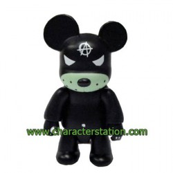 Qee Kozik Anarchy Bear Black by Kozik