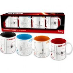 Star Wars The Force Awakens 4 Espresso Ceramic Mugs Sets