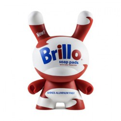 Dunny 20 cm Andy Warhol Masterpiece White Brillo par Andy Warhol x Kidrobot