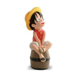 One Piece Luffy on a Barrel Moneybox