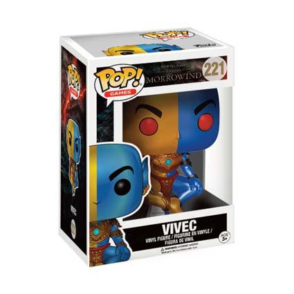 FUNKO POP GAMES THE ELDER SCROLLS VIVEC EXCLUSIVE GITD VINYL FIGUR IN BOX #221