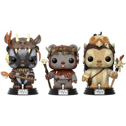 Toys Pop Star Wars Ewoks 3 Pack Teebo Chirpa And Logray