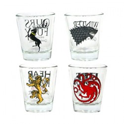 Game of Thrones Set of 4 Shot Glasses