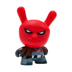 Kidrobot Dunny Batman x Kidrobot Red Hood