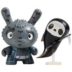 Kidrobot Dunny Scared Silly Grim Reaper Grampy von Jenn & Tony Bot