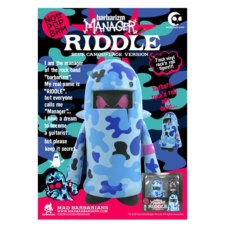 Manager - Riddle Blue Camo (17 cm)