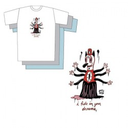T-Shirt Bleu Gary Baseman : I Hide In Your Dreams