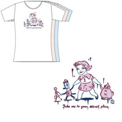 T-Shirt Blanc Femme Gary Baseman : Take Me To Your Secret Place