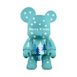 Qee Xmas Bear Bleu 20 cm par Raymond Choy