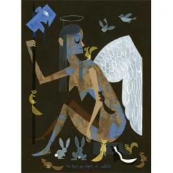 Print : Amanda Visell : no fear of angels or rabbits