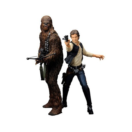Kotobukiya Star Wars Han Solo and Chewbacca