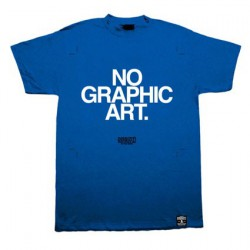 No Graphic Art Bleu