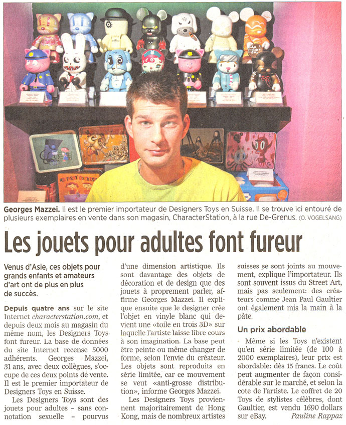 Article Tribune de Geneve
