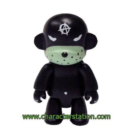 Figurine Qee Kozik Anarchy Monkey Noir par Kozik Toy2R Boutique Geneve Suisse