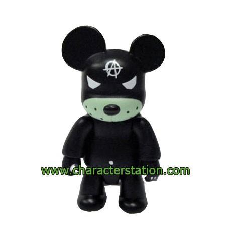 Figurine Qee Kozik Anarchy Bear Noir par Kozik Toy2R Boutique Geneve Suisse