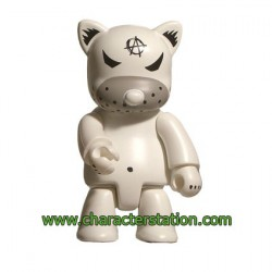 Qee Kozik Anarchy Cat Blanc par Kozik
