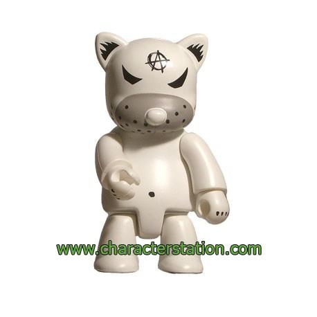Figurine Qee Kozik Anarchy Cat Blanc par Kozik Toy2R Boutique Geneve Suisse