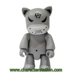 Qee Kozik Anarchy Cat Gris par Kozik