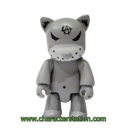 Figurine Qee Kozik Anarchy Cat Gris par Kozik Toy2R Boutique Geneve Suisse