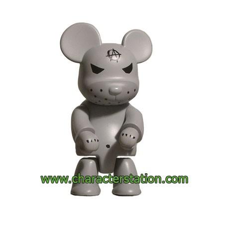 Figurine Qee Kozik Anarchy Bear Gris par Kozik Toy2R Boutique Geneve Suisse