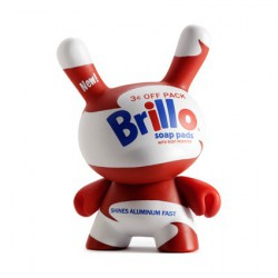 Figur Dunny Brillo Soap Pads White by Andy Warhol x Kidrobot Kidrobot Geneva Store Switzerland