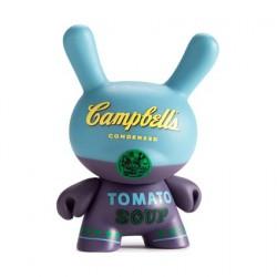 Figurine Dunny Campbell's Tomato Soup Blue par Andy Warhol x Kidrobot Kidrobot Boutique Geneve Suisse