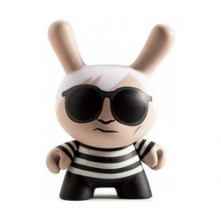 Figur Andy Warhol Dunny Black Variant by Andy Warhol x Kidrobot Kidrobot Geneva Store Switzerland