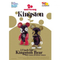 Qee Kingston Bear Red