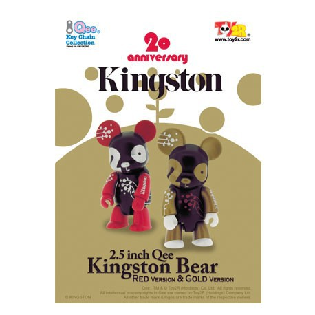 Figurine Qee Kingston Bear Red Toy2R Boutique Geneve Suisse