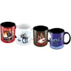 Figur Star Wars 4 Espresso Mugs Set Christmas SD Toys Geneva Store Switzerland