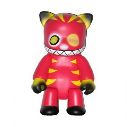 Figurine Qee Cheshire Cat Rouge 20 cm par Anna Puchalski Designer Toys Geneve