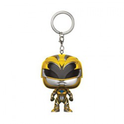 Figurine Pocket Pop Porte Clé Power Rangers Movie Yellow Ranger Funko Boutique Geneve Suisse