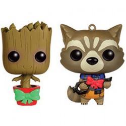 Figurine Pop Mini Marvel Guardians Christmas Groot and Rocket Racoon Mini Wobbler Édition Limitée Funko Boutique Geneve Suisse