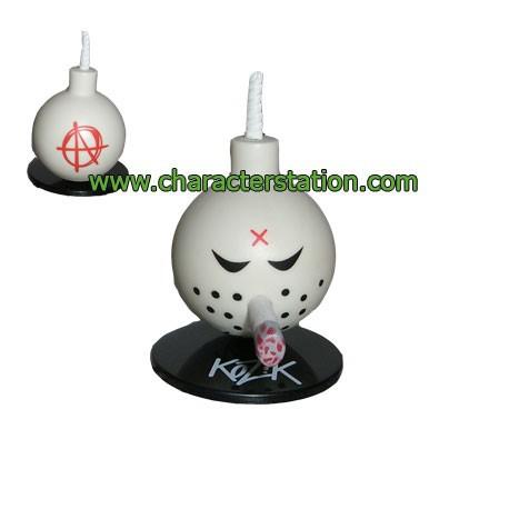 Figurine Mini Bomb Blanc par Kozik Toy2R Boutique Geneve Suisse