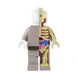 Figurine Lego 28 cm Bigger Micro Anatomic Rouge par Jason Freeny Mighty Jaxx Boutique Geneve Suisse