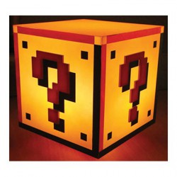 Figurine Lampe Super Mario Bros Question Block Paladone Boutique Geneve Suisse