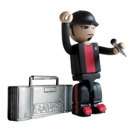 Figurine Bitdz Tre Noir par Oakland's Warning Label Design Strangeco Boutique Geneve Suisse