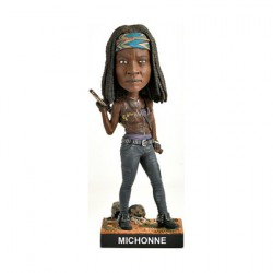 Figurine The Walking Dead Michonne Bobble Head en Résine Royal Bobbleheads Boutique Geneve Suisse