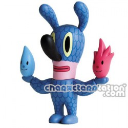 Fire Water Bunny Aqua par Gary Baseman