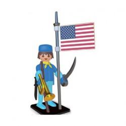 Figurine Playmobil Nostalgia Cavalier Américain Nordiste 25 cm Plastoy Boutique Geneve Suisse