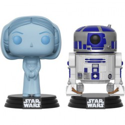 Figuren Pop SDCC 2017 Star Wars Holographic Princess Leia & R2-D2 Limitierte Auflage Funko Figuren Pop! Genf