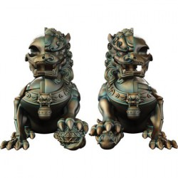 Figurine Xxray Plus Foo Dogs Set par Jason Freeny Mighty Jaxx Boutique Geneve Suisse