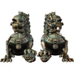 Figuren Xxray Plus Foo Dogs Set von Jason Freeny Designer Toys Genf