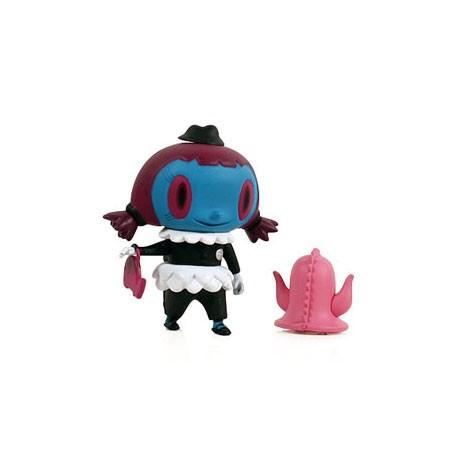 Figurine City Folk Series School Girl Bleu par Nathan Jurevicius Kidrobot Boutique Geneve Suisse