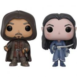 Figuren Pop SDCC 2017 Lord of the Rings Aragorn und Arwen 2-pack Funko Figuren Pop! Genf