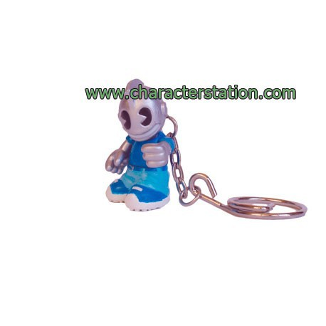 Figuren Porte clés Kidbomber Bleu von Tristan Eaton & Paul Budnitz Kidrobot Kleine Figuren Genf