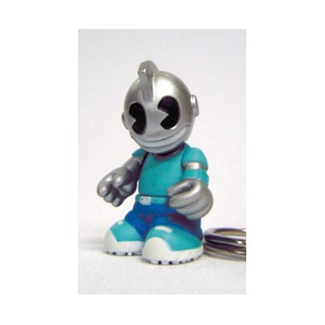 Figur Porte clés Kidbomber Bleu by Tristan Eaton & Paul Budnitz Kidrobot Little Toys Geneva