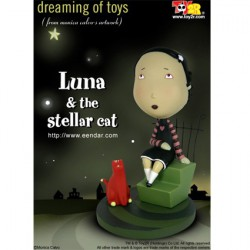 Luna & the Stellar Cat 16 cm par Monica Calvo