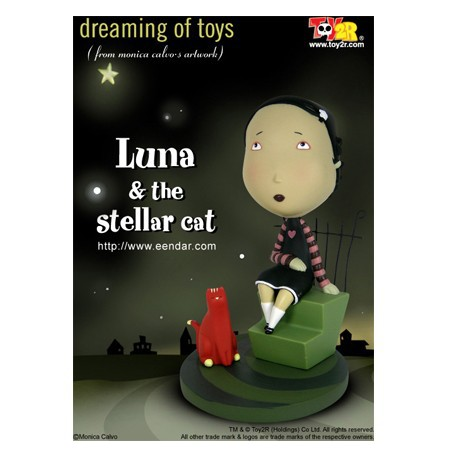 Figur Luna & the Stellar Cat 16 cm by Monica Calvo Toy2R Geneva Store Switzerland