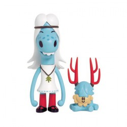 Figurine Hattie et Mr Pasty par Pete Fowler Playbeast Boutique Geneve Suisse
